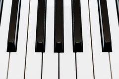 White and black keys of a piano Royalty Free Stock Photos