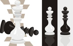 White and black king chess royalty free stock images
