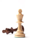 White And Black Kings Chess Figures Royalty Free Stock Photo
