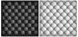 White & black leather upholstery background Royalty Free Stock Photography