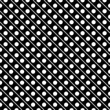 White on black line and polka dots in lines seamless repeat pattern background Royalty Free Stock Image
