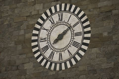 White and black marble clock Royalty Free Stock Image