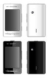 White and black mobile phones Stock Image