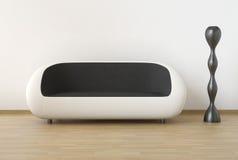 White and black modern interior Royalty Free Stock Photo