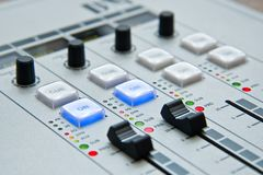 White and Black Music Mixer Stock Images
