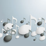 White And Black Music Notes Stock Images