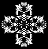 White on black ornament stock photos