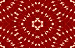 White, black pattern on a red background. Unique ornament. Abstract bright background. Royalty Free Stock Photos