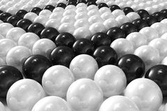 White and black patterned 3D balls Royalty Free Stock Images