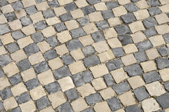 White and black pavement Royalty Free Stock Image