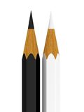 White and black pencil Royalty Free Stock Image
