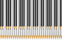White and black pencils as piano keys Royalty Free Stock Images