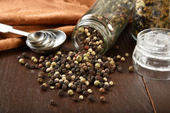 White and black pepper Stock Images