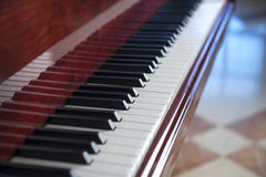 White and Black Piano Keys in Row Stock Image