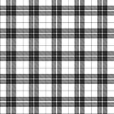 White and Black Plaid Fabric Background. White and Black Plaid textured Fabric Background that is seamless and repeats royalty free illustration