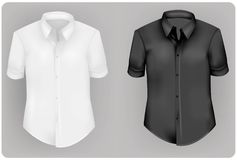 White and black polo shirts. Stock Images