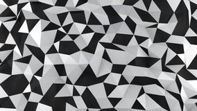 White and black polygons surface abstract 3D render. White and black polygons surface. Computer generated abstract background. Abstract 3D render Stock Images