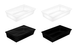 White and black polystyrene packaging mockup. A White and black polystyrene packaging mockup Royalty Free Stock Image