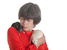 White and black rats Stock Photos