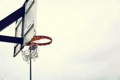 White Black and Red Basketball Hoop Stock Photo