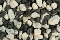 White and black rocks Stock Images