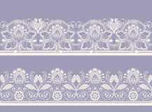 White and black seamless lace. Raster version of illustration Stock Photos