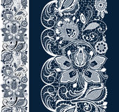White and black seamless lace royalty free illustration