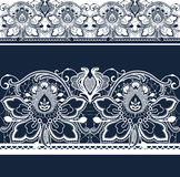 White and black seamless lace. royalty free illustration