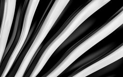 White and black silk drapery and fabric background. 3d render. Ing Royalty Free Stock Images