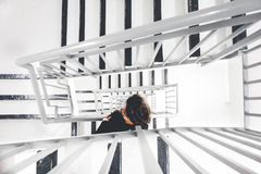 White Black Stairs Royalty Free Stock Image