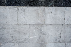 White and black stone masonry texture Royalty Free Stock Photo