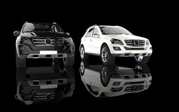 White And Black SUVs Royalty Free Stock Photos