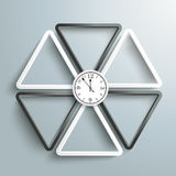 White And Black Triangles Clock Contre Royalty Free Stock Photos