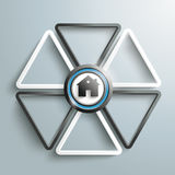 White Black Triangles House Contre Royalty Free Stock Photography