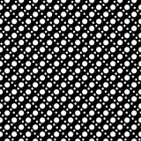 White on black two different sized polka dots in lines seamless repeat pattern background Stock Photography