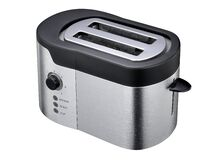 White and Black Two Sliced Bred Toaster Royalty Free Stock Images