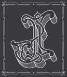 White on black vector illustration of capital letter J Stock Photography