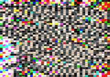 White, black, yellow red mosaic abstract background Royalty Free Stock Image