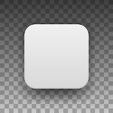 White Blank App Icon Button Template Stock Photography
