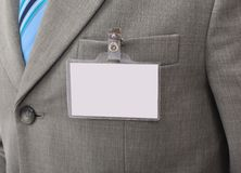 White Blank Badge Royalty Free Stock Images