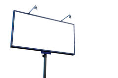 White blank billboard. Isolated on white Royalty Free Stock Images