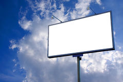 White blank billboard Stock Image