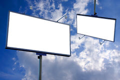 White blank billboard Royalty Free Stock Images