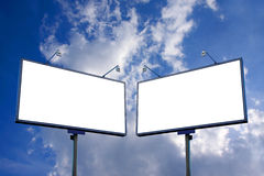 White blank billboard Stock Photo