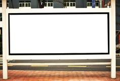 White blank billboard Stock Image
