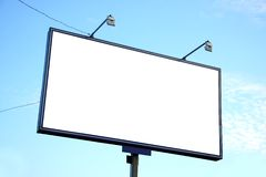 White blank billboard Stock Photography