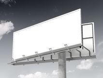 White blank billboard. 3d rendering royalty free illustration