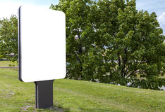 White blank billboard Stock Photo