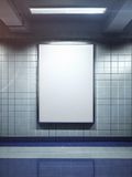 White blank billboard poster indoor Royalty Free Stock Photo