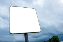 White blank billboard Royalty Free Stock Photos